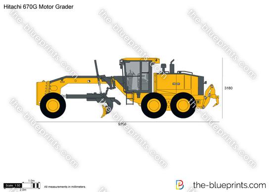 Hitachi 670G Motor Grader