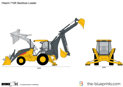 Hitachi 710K Backhoe Loader