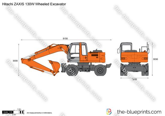 Hitachi ZAXIS 130W Wheeled Excavator