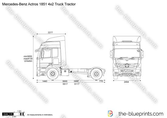 Mercedes-Benz Actros 1851 4x2 Truck Tractor
