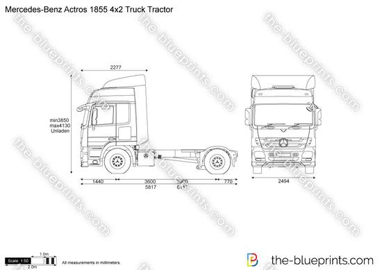 Mercedes-Benz Actros 1855 4x2 Truck Tractor