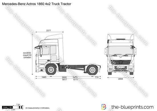 Mercedes-Benz Actros 1860 4x2 Truck Tractor