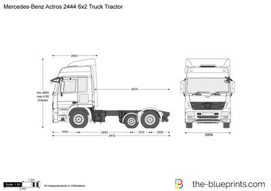 Mercedes-Benz Actros 2444 6x2 Truck Tractor