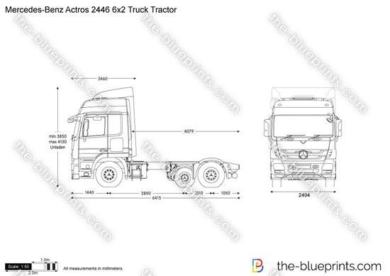 Mercedes-Benz Actros 2446 6x2 Truck Tractor
