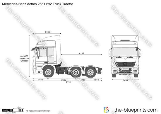 Mercedes-Benz Actros 2551 6x2 Truck Tractor