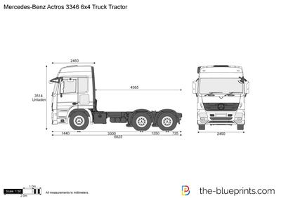 Mercedes-Benz Actros 3346 6x4 Truck Tractor