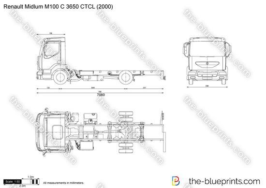 Renault Midlum M100 C 3650 CTCL