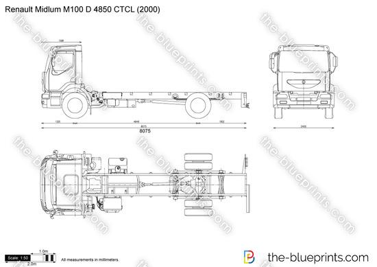 Renault Midlum M100 D 4850 CTCL