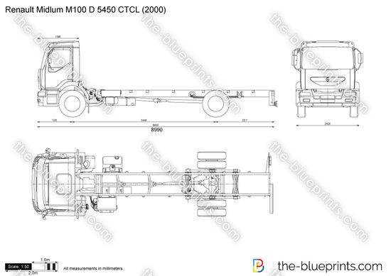 Renault Midlum M100 D 5450 CTCL