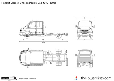 Renault Mascott Chassis Double Cab 4630