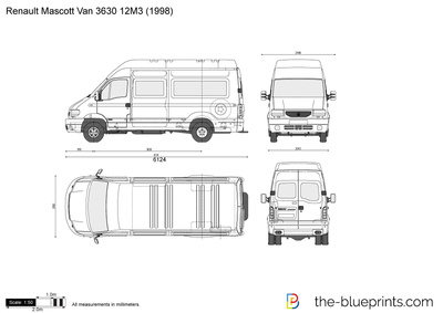 the vector drawing renault mascott van 3630 12m3. Black Bedroom Furniture Sets. Home Design Ideas