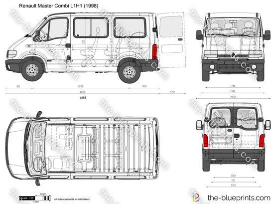 renault master combi l1h1 vector drawing. Black Bedroom Furniture Sets. Home Design Ideas