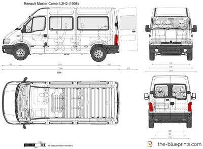 The-Blueprints.com - Vector Drawing - Renault Master Combi ...