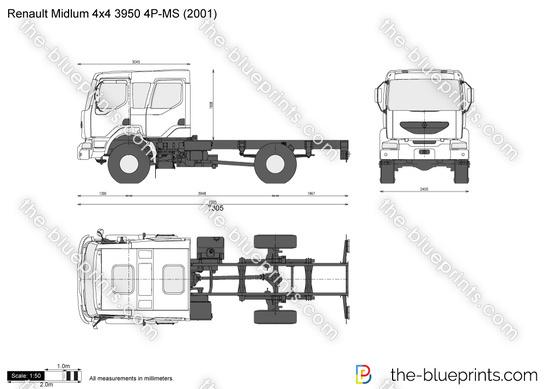 Renault Midlum 4x4 3950 4P-MS