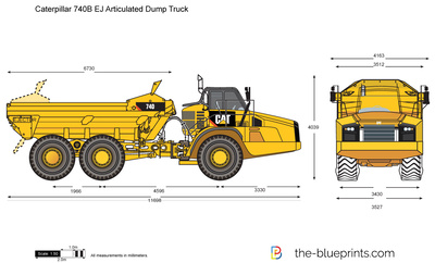 Caterpillar 740B EJ Articulated Dump Truck