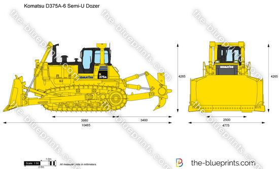 Komatsu D375A-6 Semi-U Dozer