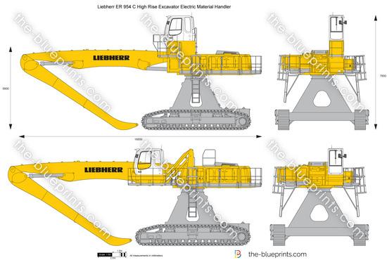 Liebherr ER 954 C High Rise Excavator Electric Material Handler