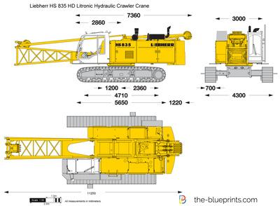 Liebherr HS 835 HD Litronic Hydraulic Crawler Crane