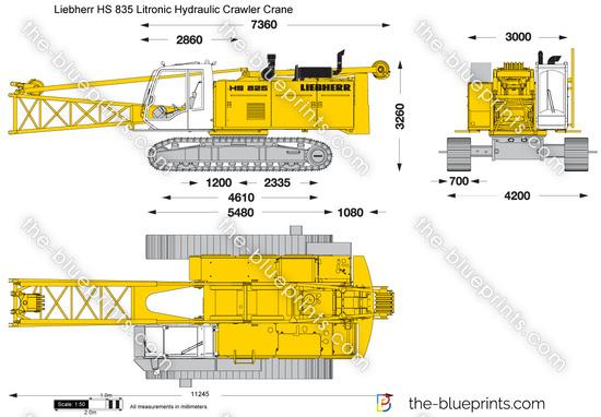 Liebherr HS 835 Litronic Hydraulic Crawler Crane