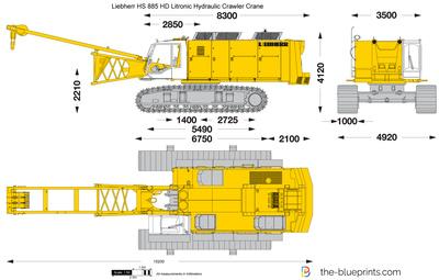 Liebherr HS 885 HD Litronic Hydraulic Crawler Crane