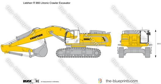 Liebherr R 966 Litronic Crawler Excavator