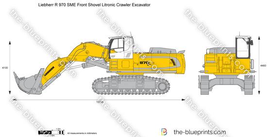 Liebherr R 970 SME Front Shovel Litronic Crawler Excavator