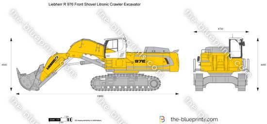 Liebherr R 976 Front Shovel Litronic Crawler Excavator