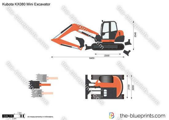 Kubota KX080 Mini Excavator