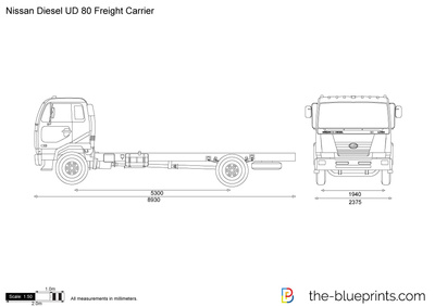 Nissan Diesel UD 80 Freight Carrier