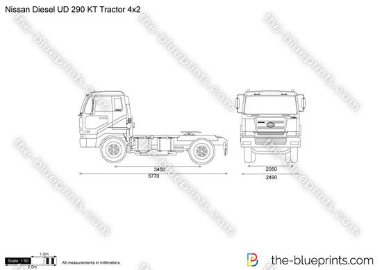 Nissan Diesel UD 290 KT Tractor 4x2