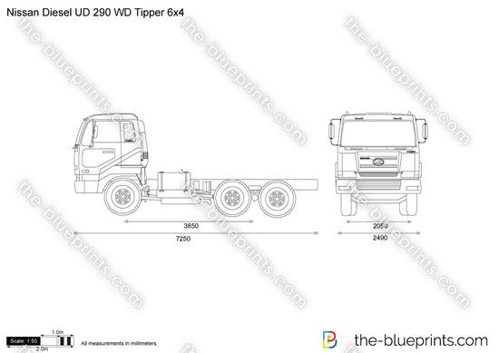 Nissan Diesel UD 290 WD Tipper 6x4