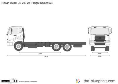 Nissan Diesel UD 290 WF Freight Carrier 6x4