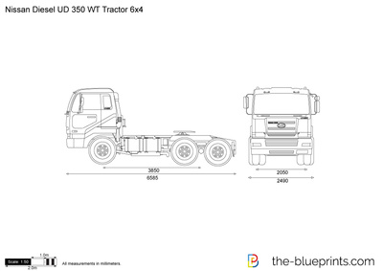 Nissan Diesel UD 350 WT Tractor 6x4