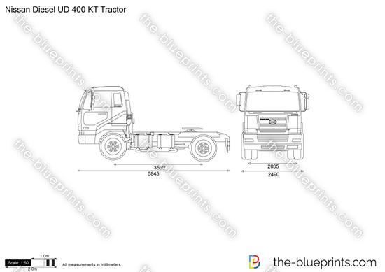 Nissan Diesel UD 400 KT Tractor