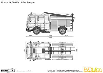 Roman 16.280 F 4x2 Fire Rescue