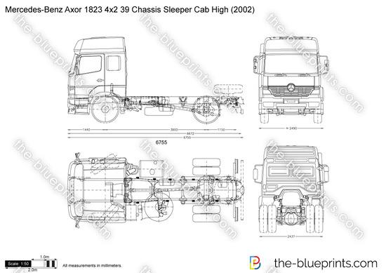 Mercedes-Benz Axor 1823 4x2 39 Chassis Sleeper Cab High