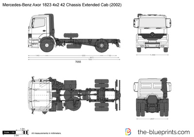 Mercedes-Benz Axor 1823 4x2 42 Chassis Extended Cab