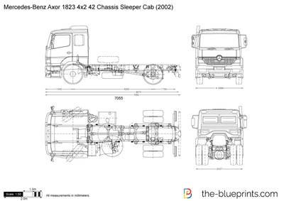 Mercedes-Benz Axor 1823 4x2 42 Chassis Sleeper Cab