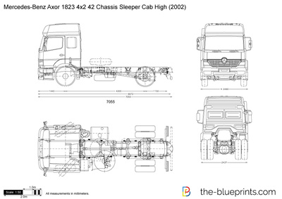 Mercedes-Benz Axor 1823 4x2 42 Chassis Sleeper Cab High