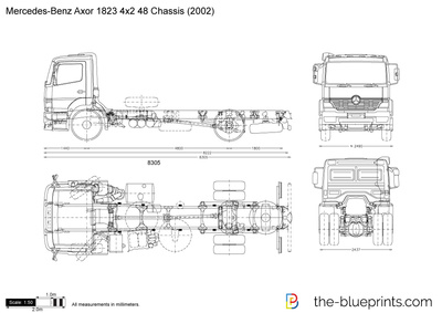 Mercedes-Benz Axor 1823 4x2 48 Chassis