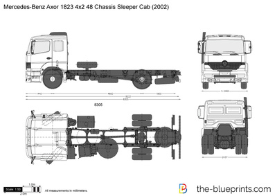 Mercedes-Benz Axor 1823 4x2 48 Chassis Sleeper Cab