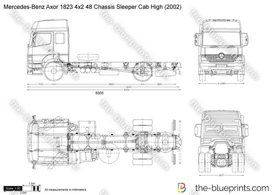 Mercedes-Benz Axor 1823 4x2 48 Chassis Sleeper Cab High
