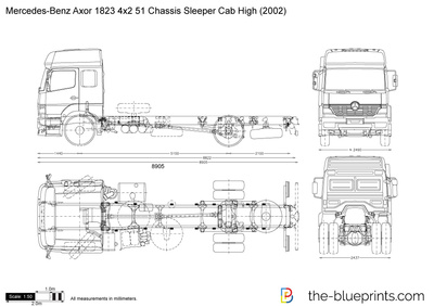 Mercedes-Benz Axor 1823 4x2 51 Chassis Sleeper Cab High