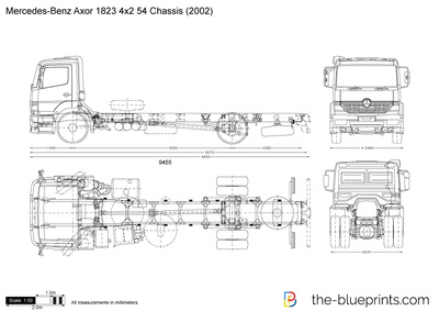 Mercedes-Benz Axor 1823 4x2 54 Chassis
