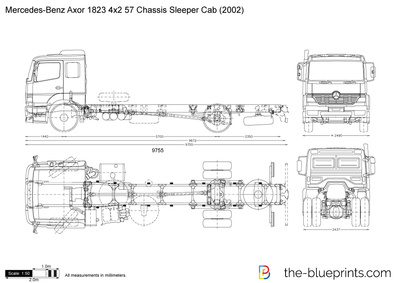 Mercedes-Benz Axor 1823 4x2 57 Chassis Sleeper Cab