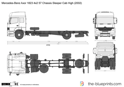 Mercedes-Benz Axor 1823 4x2 57 Chassis Sleeper Cab High