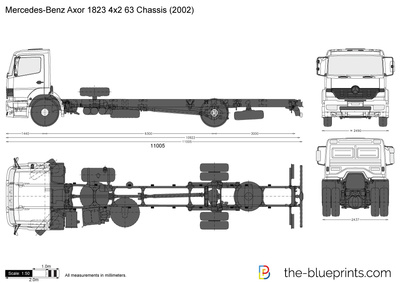 Mercedes-Benz Axor 1823 4x2 63 Chassis