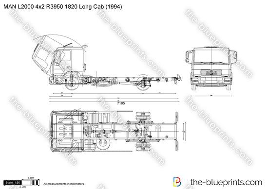 MAN L2000 4x2 R3950 1820 Long Cab