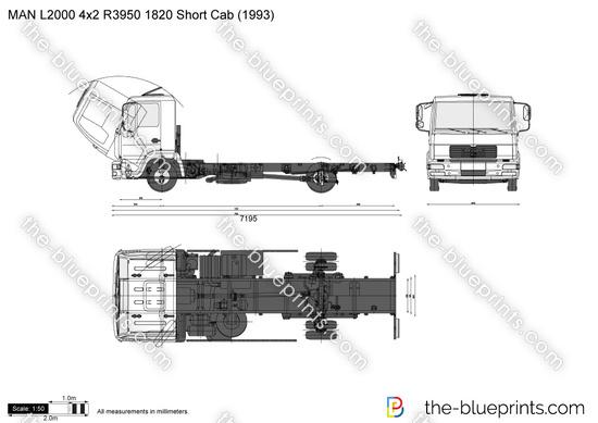 MAN L2000 4x2 R3950 1820 Short Cab