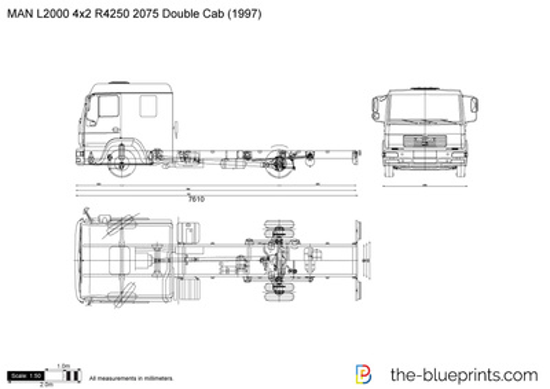MAN L2000 4x2 R4250 2075 Double Cab